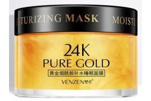 Ночная крем-маска с Ниацинамидом Venzen 24k Pure Gold , 120гр.