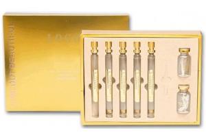 """Набор из золотых пептидных эссенций и протеиново-коллагеновых нитей для подтяжки лица """"Gold Leaf Protein Peptide Combination""""."""