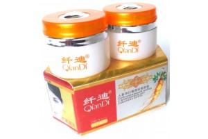 Оживляющий набор QianDi с женьшенем для удаления пигментных пятен. 2 крема по 20гр.