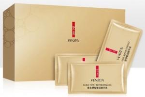 Восстанавливающая сыворотка для лица с золотыми частицами Venzen. 30 пакетиков по 2мл.