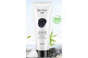 Beotua Пенка для очищения и снятия макияжа с бамбуковым углем и жирными кислотами, 60мл