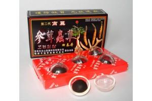 Пилюли укрепляющие Хуэй Чжун Дан на основе пантов и женьшеня. уп. 5 шт.