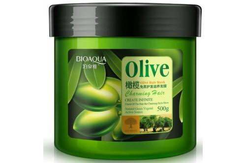 Питательная маска для волос с экстрактом оливкового масла Bioaqua Olive Hair Mask 500 мл.