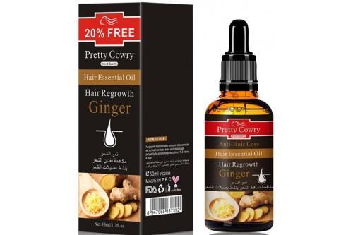 Эфирное масло для лечения волос и укрепления волосяной луковицы. Имбирь. 50мл.